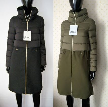 HERNO Down Jackets Blended Fabrics Plain Down Jackets
