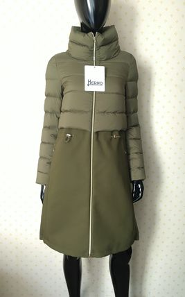 HERNO Down Jackets Blended Fabrics Plain Down Jackets 3