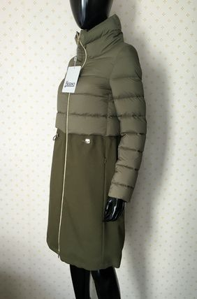 HERNO Down Jackets Blended Fabrics Plain Down Jackets 7