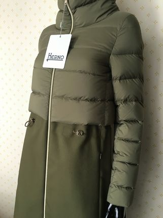 HERNO Down Jackets Blended Fabrics Plain Down Jackets 9