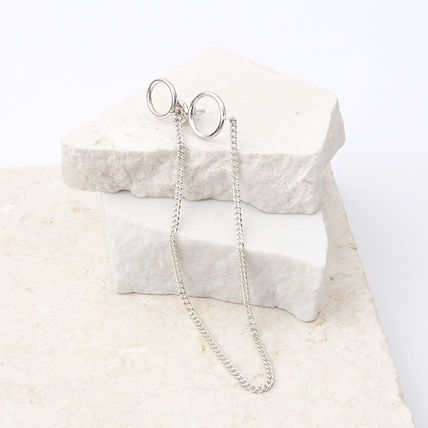 Casual Style Unisex Silver Earrings
