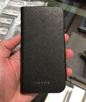 PRADA SAFFIANO LUX Unisex Plain Leather Smart Phone Cases