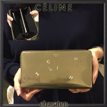 CELINE Unisex Plain Leather Special Edition Long Wallets
