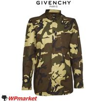 GIVENCHY Camouflage Street Style Long Sleeves Shirts