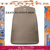 HERMES Casual Style Leather Backpacks