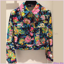 MSGM Flower Patterns Casual Style Blended Fabrics Long Sleeves