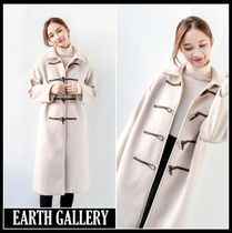 Casual Style Wool Street Style Plain Long Oversized