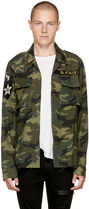 AMIRI Button-down Camouflage Street Style Long Sleeves Cotton