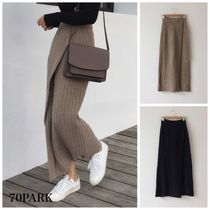 Pencil Skirts Casual Style Street Style Plain Long
