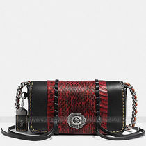 Coach Blended Fabrics 3WAY Leather Python Crossbody Shoulder Bags
