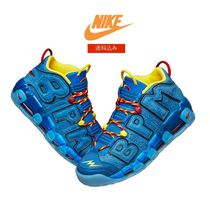 Nike AIR MORE UPTEMPO Street Style Collaboration Low-Top Sneakers