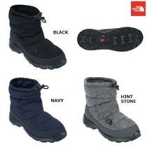 THE NORTH FACE Argile Round Toe Rubber Sole Casual Style Faux Fur
