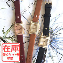 Michael Kors Leather Square Quartz Watches Elegant Style Analog Watches
