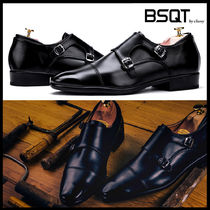 BSQT Monk Street Style Leather Oxfords