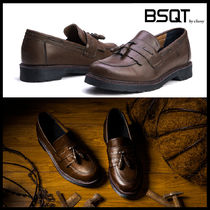 BSQT Moccasin Street Style Leather Shoes