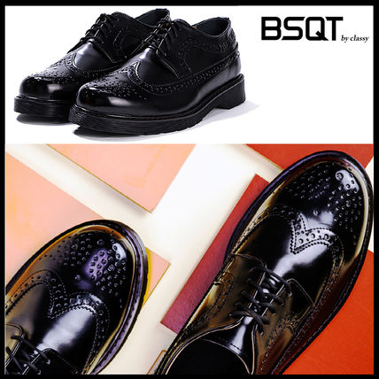 Wing Tip Street Style Leather Oxfords