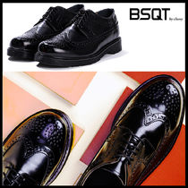 BSQT Casual Style Street Style Leather Shoes