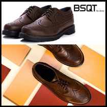 BSQT Wing Tip Street Style Leather Oxfords