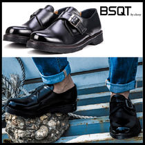 BSQT Monk Street Style Leather Shoes