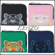 KENZO Unisex Other Animal Patterns Leather Folding Wallets