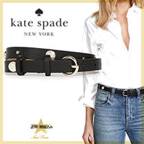 kate spade new york Casual Style Plain Leather Belts