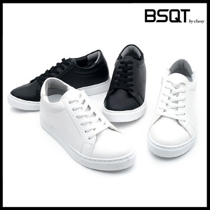 Casual Style Street Style Leather Low-Top Sneakers