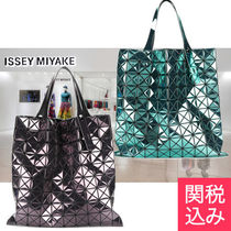 ISSEY MIYAKE Casual Style A4 Plain PVC Clothing Totes