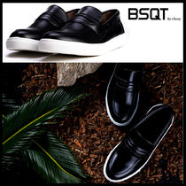 BSQT Casual Style Street Style Leather Low-Top Sneakers