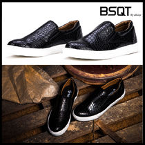 BSQT Casual Style Street Style Other Animal Patterns Leather