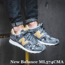 New Balance 574 Camouflage Street Style Sneakers