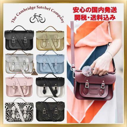 Unisex 2WAY Plain Leather Elegant Style Shoulder Bags