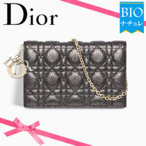 Christian Dior Calfskin 2WAY Chain Plain Party Style Clutches