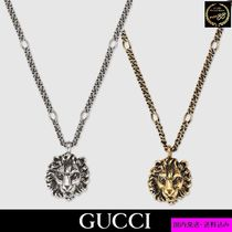 GUCCI Unisex Chain Other Animal Patterns Metal Necklaces & Chokers