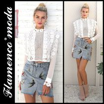 Short Flower Patterns Long Sleeves Lace Elegant Style