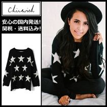 Chicwish Star Casual Style Wool Long Sleeves Medium Sweaters