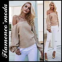 Short Casual Style Plain Puff Sleeves Cropped