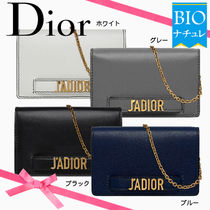 Christian Dior Calfskin 2WAY Plain Party Style Clutches