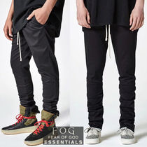 FEAR OF GOD Street Style Collaboration Plain Cotton Skinny Fit Pants