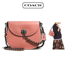 Coach TURNLOCK Melon & Bordeaux Colorblock Turnlock Saddle Shoulder Bag