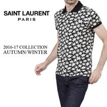 Saint Laurent Star Cotton Short Sleeves Polos