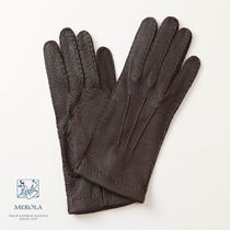 Merola Plain Leather Handmade Leather & Faux Leather Gloves
