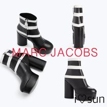 MARC JACOBS Stripes Platform Round Toe Casual Style Leather