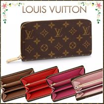 Louis Vuitton ZIPPY WALLET Monogram Canvas Blended Fabrics Bi-color Bold Long Wallets