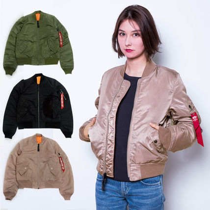 Casual Style Street Style Plain Bomber Jackets