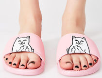 RIPNDIP Unisex Street Style Other Animal Patterns Shower Shoes