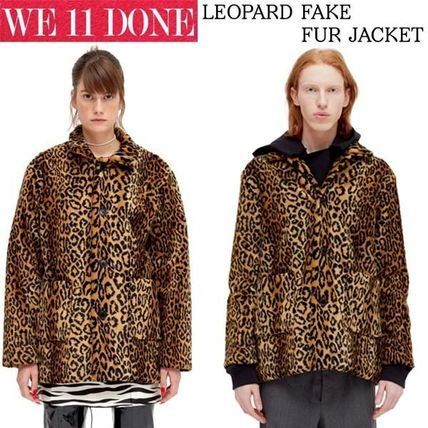 Leopard Patterns Casual Style Unisex Street Style Medium