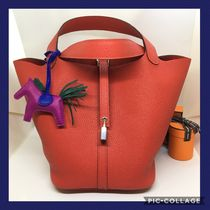 HERMES Picotin Leather Bags