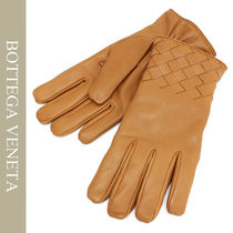 BOTTEGA VENETA Unisex Plain Leather Leather & Faux Leather Gloves
