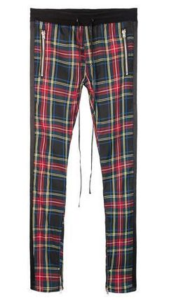 MNML Tapered Pants Stripes Other Plaid Patterns Unisex