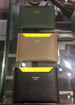 CELINE Unisex Calfskin Card Holders